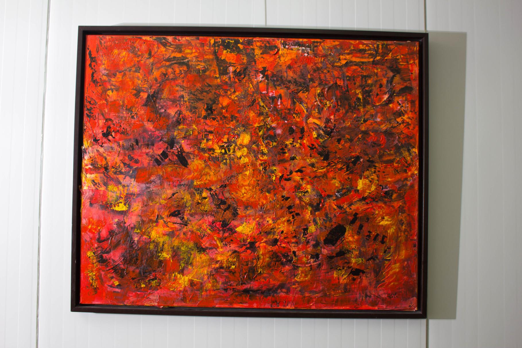 Nr. 35 Dietmar Krause,  Acryl auf Japanpapier auf Leinwand, 100 x 120cm