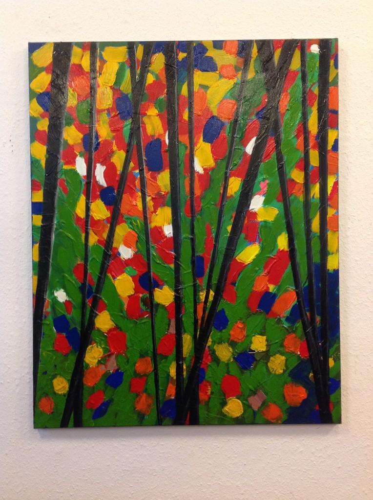 Lieselotte Radach, Acryl auf Leinwand, 80 x 100cm