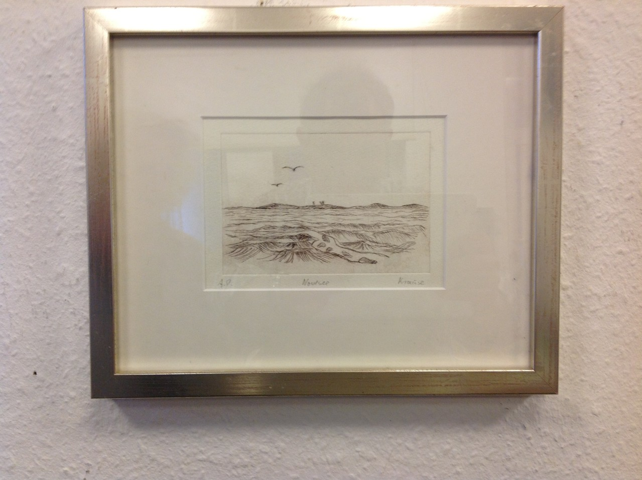 Dietmar Krause, Radierung, 20 x 30cm inkl. Rahmen