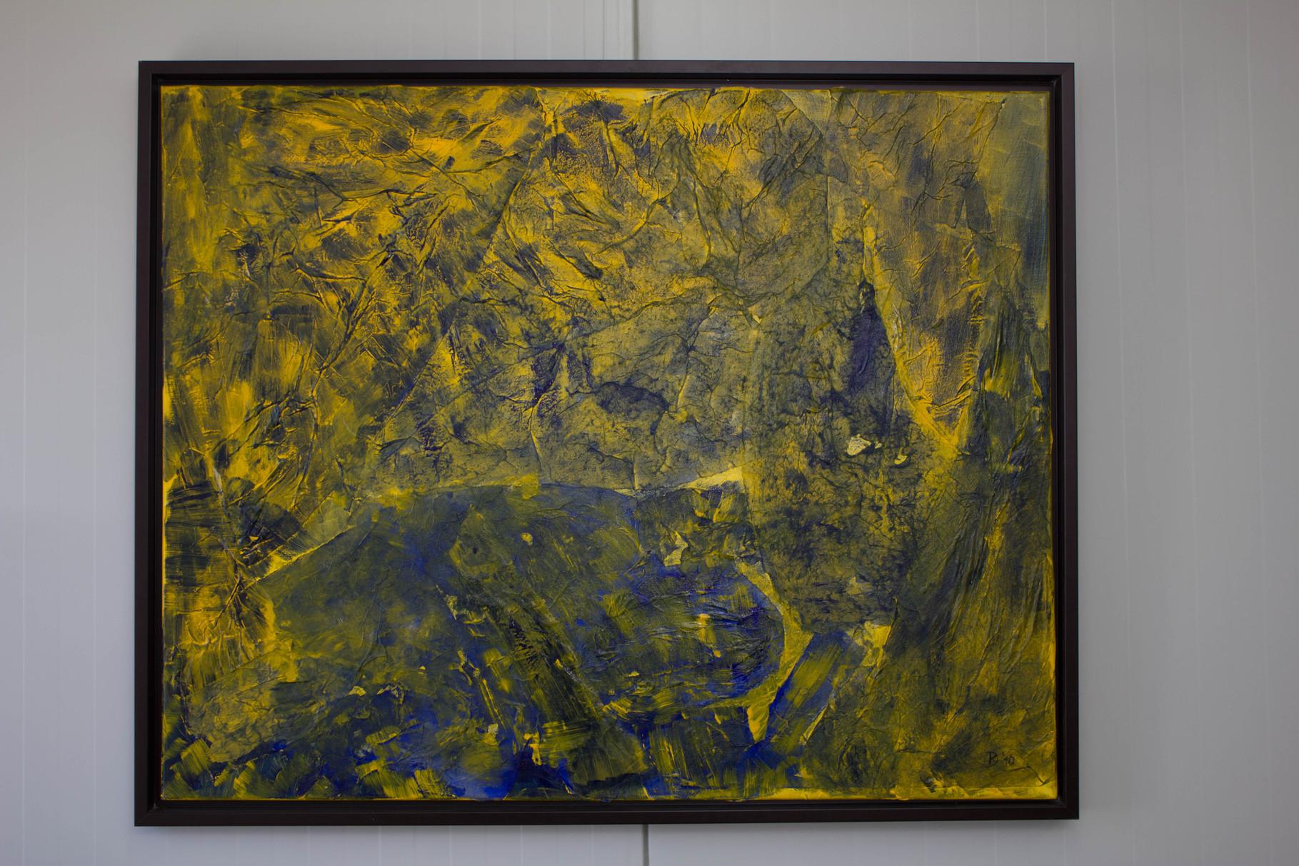 Nr. 36 Dietmar Krause, Acryl auf Japanpapier auf Leinwand, 100 x 120cm