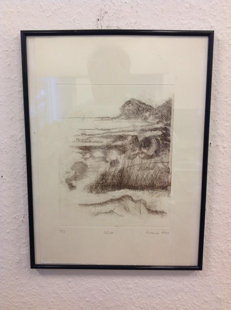 Dietmar Krause, Radierung.ca. 30 x 40cm inkl. Rahmen