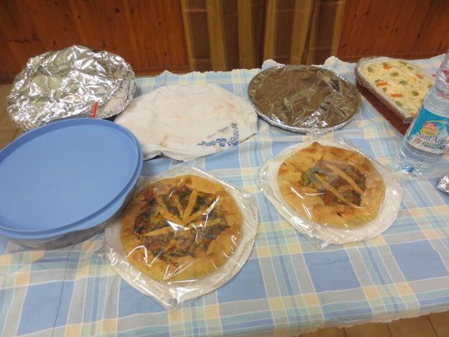 Piatti e dolci preparati dai componenti dei vari gruppi!