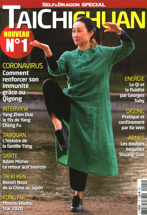 Weijia Cambreleng en couverture de Taichi Chuan magazine