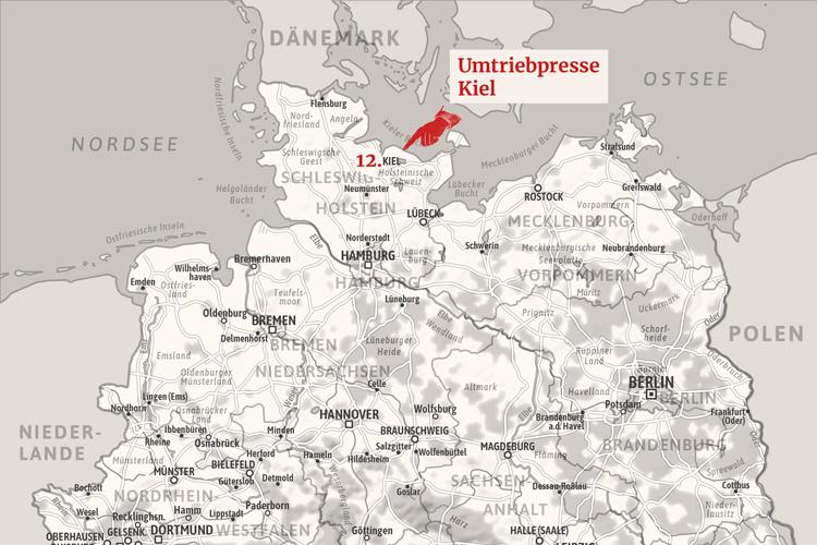 Meine 12. Station ist Kiel