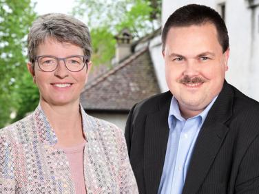 Doris Rutishauser Saner (FDP.Die Liberalen) und David Buess (SVP)