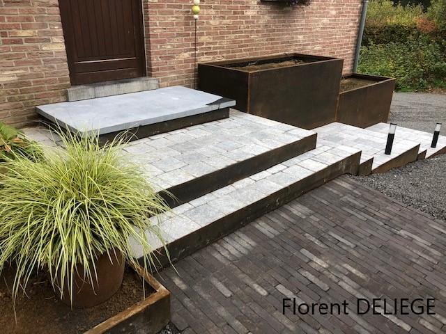 aménagement extérieur paysagiste entrée habitation contemporary landscaping