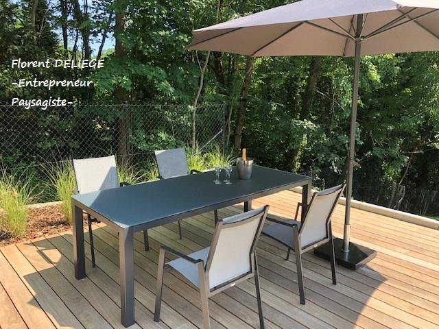 Aménagement extérieur entrepreneur paysagiste terrasse bois contemporary landscaping