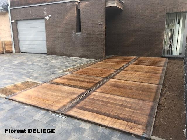 aménagement extérieur complet pavage bois contemporary landscaping