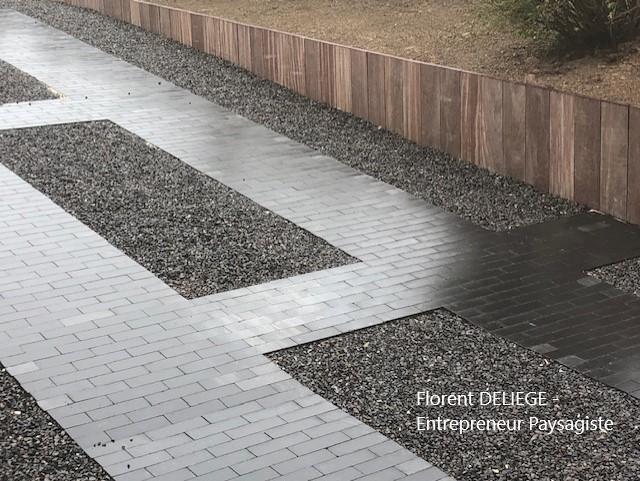 allée carrossable garage moderne contemporain contemporary landscaping
