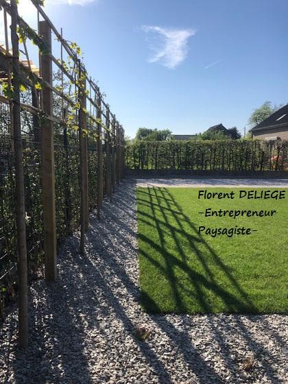 aménagement extérieur complet pavage plantation clôture muret entreprise paysagiste contemporary landscaping