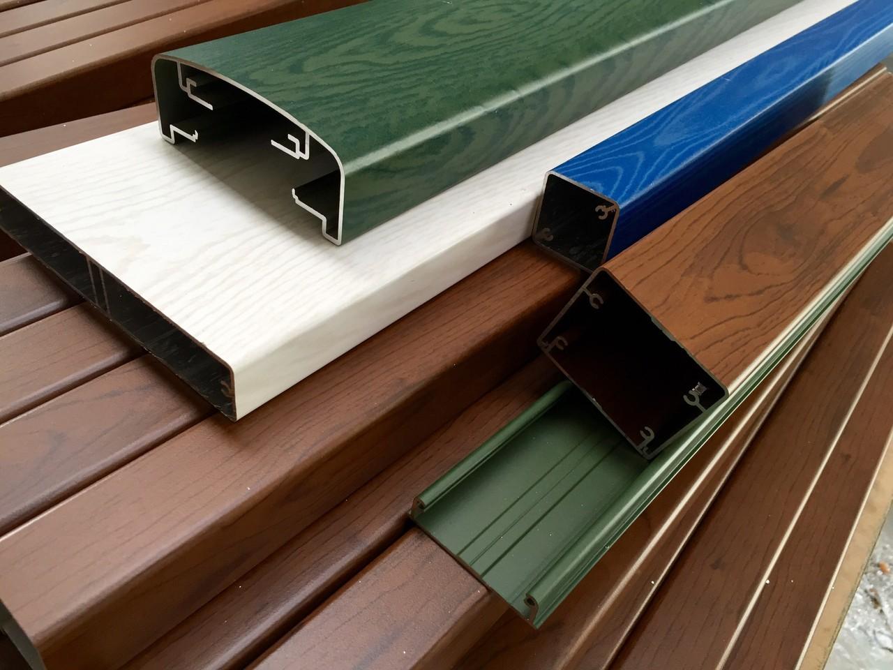Alufence Profili Alluminio Balconi Alluminio Tinta Legno Profili In Alluminio