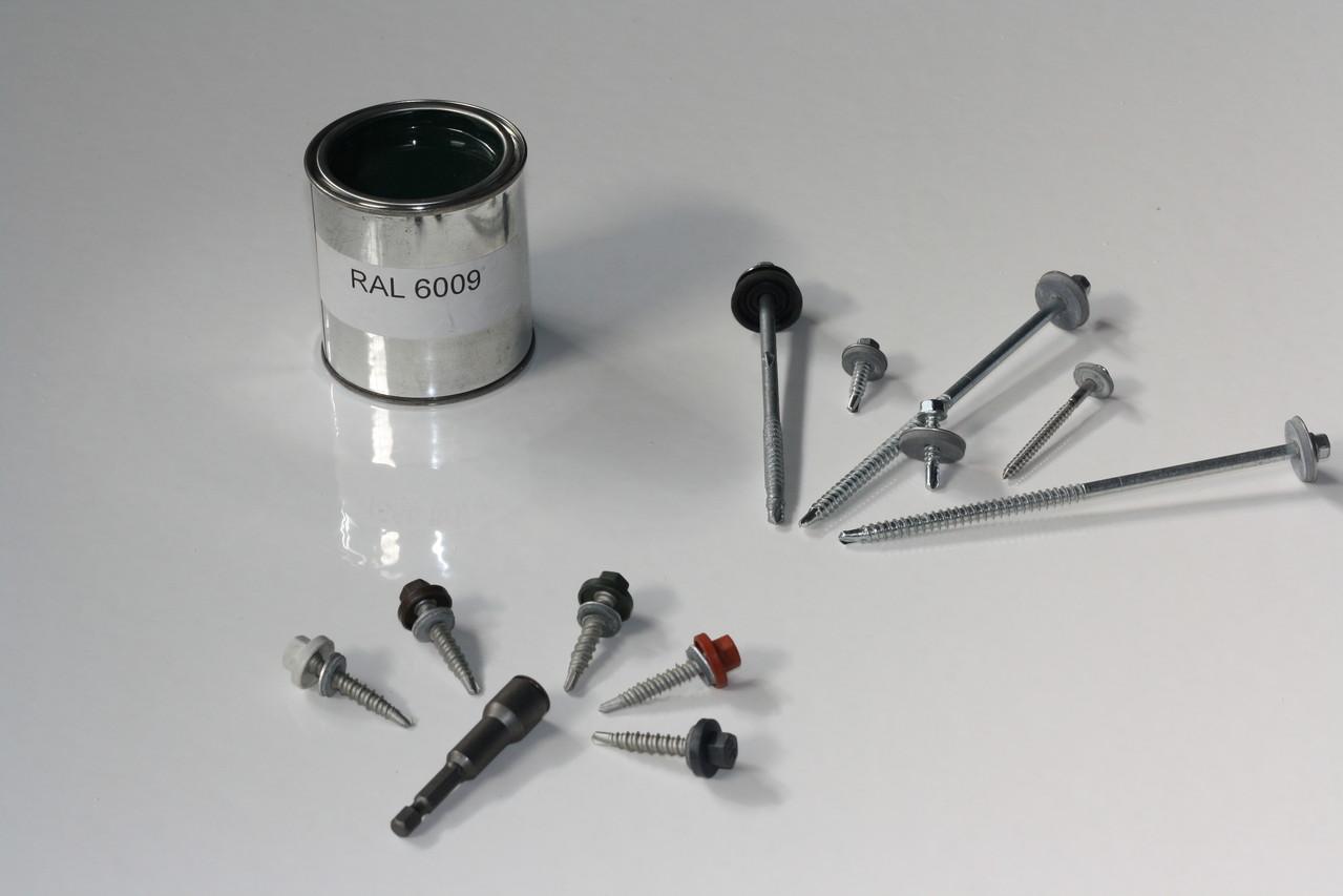 Bohrschrauben, Reparaturlack und Spezial-Bit