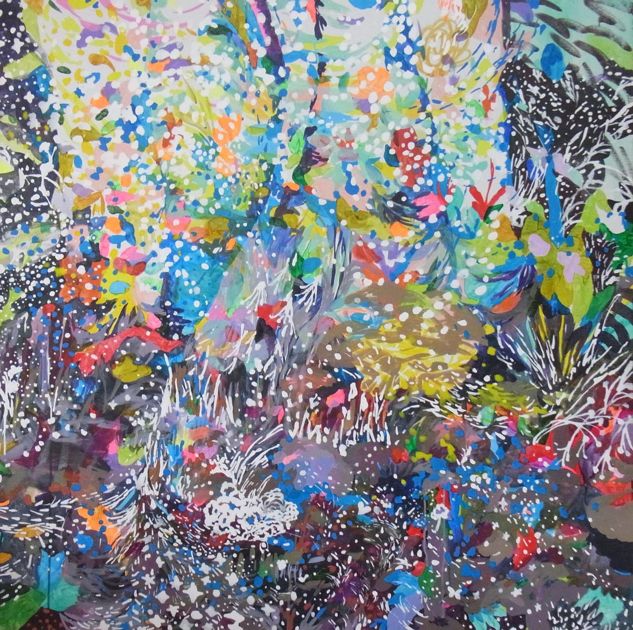 """""""33""""acrylic on canvas 116.7×116.7cm,2013"""