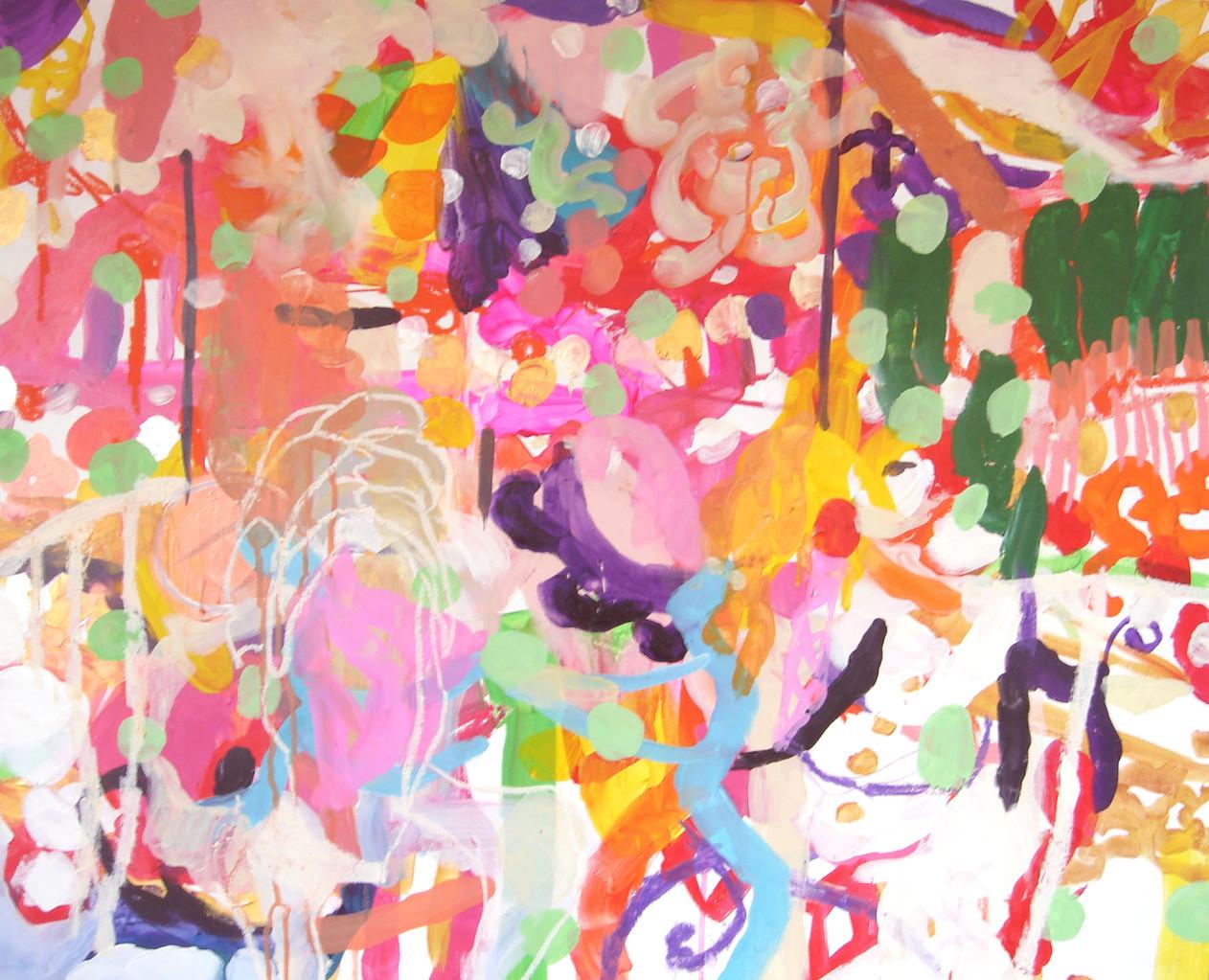 """""""メリーゴーランド """"  acrylic on panel 65.2×80.3cm,2006"""