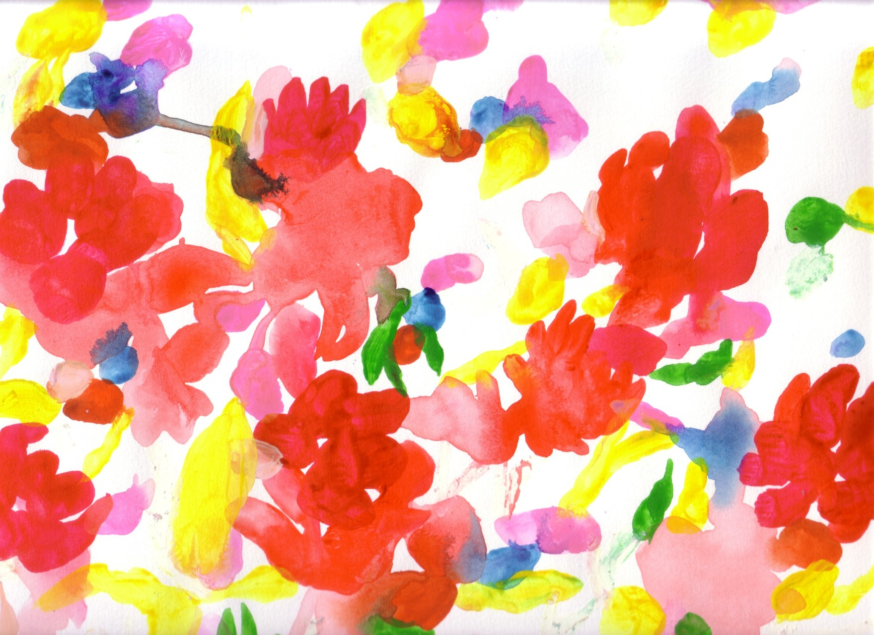 """花シリーズ"" acrylic,watercolor,oil pastel,pencil  23.5×34cm 2007"