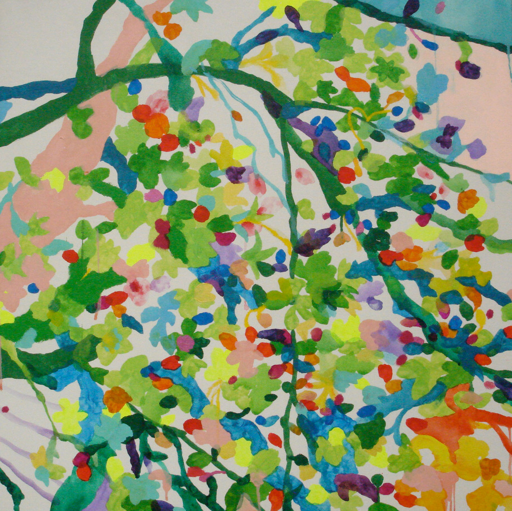 """緑の桜"" acrylic on canvas 80.3×80.3cm,2009"