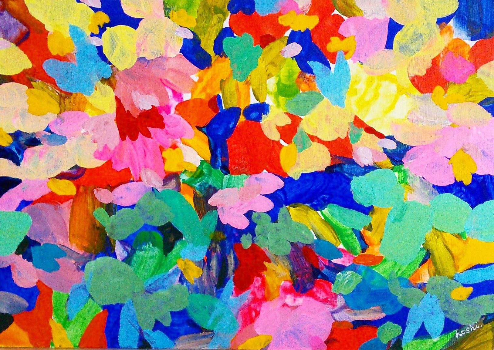 """""untitled"" acrylic on panel 15.8×22.7cm,2016"