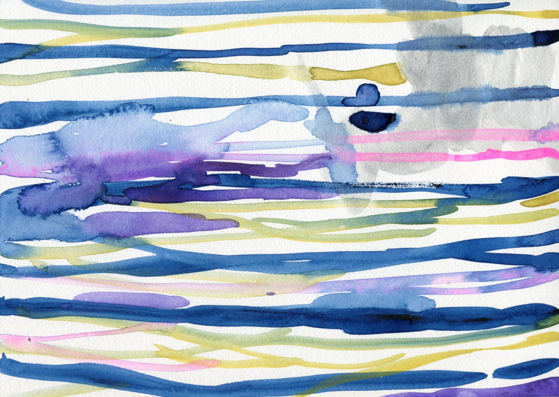 """""""drawing1517""""  watercolor,paper 21.0×29.7cm 2015"""