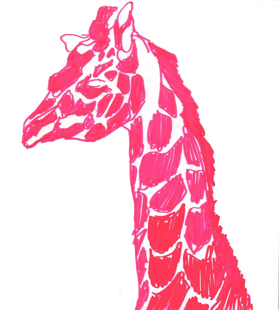 """""""キリン""""  colormarker,paper"""