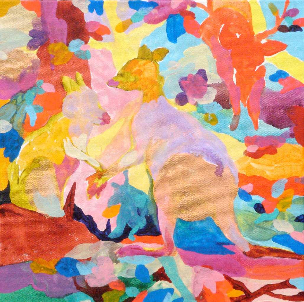 """""""色おに""""   acrylic on canvas 27.3×27.3cm,2009"""