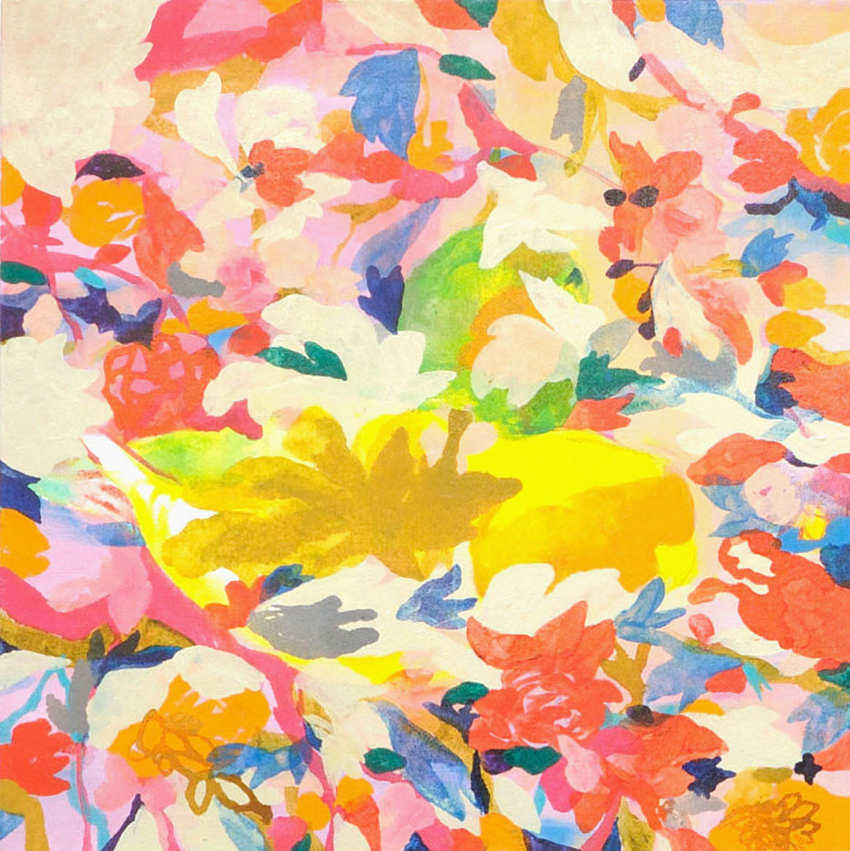 """""""飛びたった鳥"""" acrylic on canvas 45.5×45.5cm,2010"""