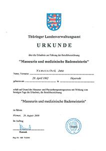 Masseuerin medizinische Bademeisterin - Jutta Rudolph