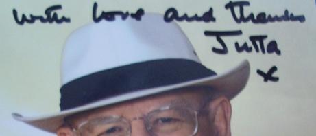 Roger Whittakter - Autogramm für Jutta Rudolph