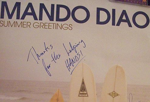 Mando Diago - Autogramm für Jutta Rudolph