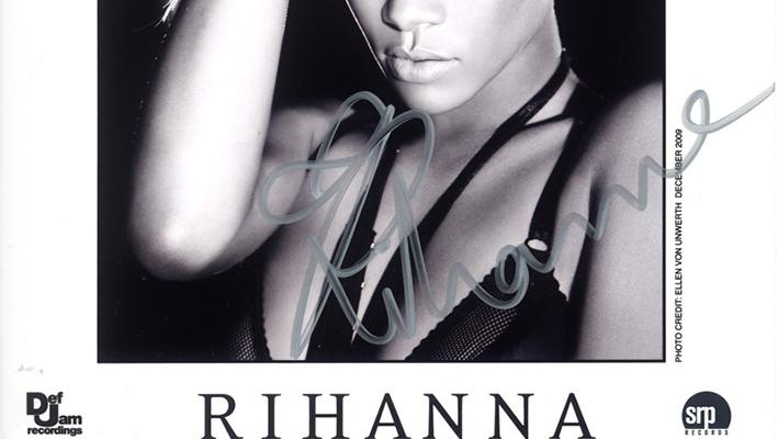 Rihanna - Autogramm für Jutta Rudolph