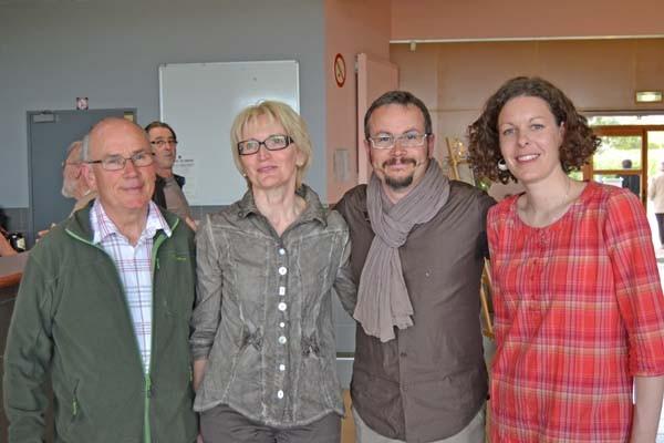 Krystoff entouré de Delphine nouvelle Présidente, Roselyne et Camille anciens Présidents d'Art Mano