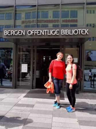 Norvegijos Bergeno biblioteka - patraukli  edukacinė erdvė vaikams