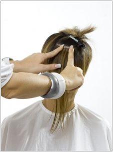 Haarverlängerung Quikkies auflegen und andrücken