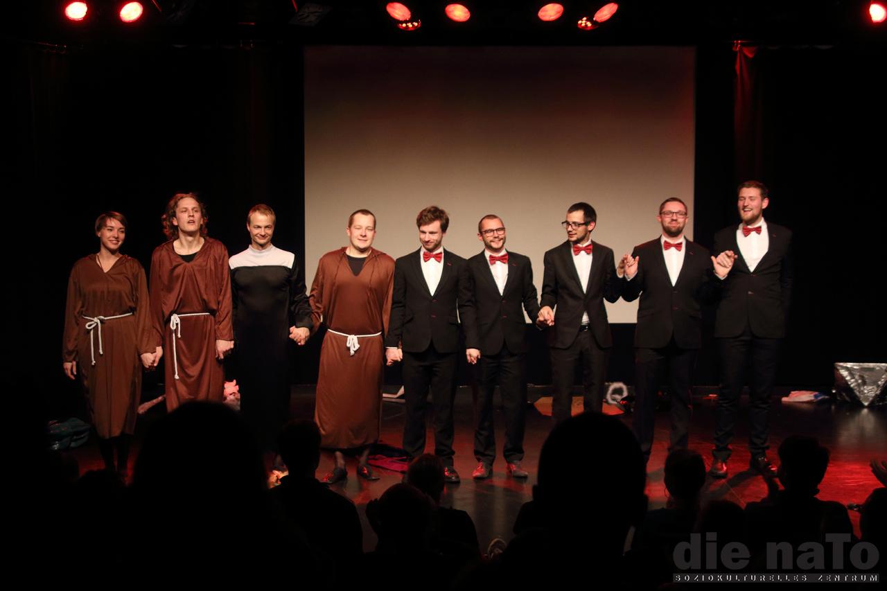 Das verko(r)kste Krippenspiel, Knalltheater/ KeinChor - Leipzig NaTo
