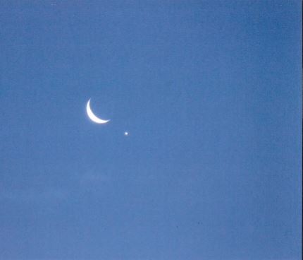 逸朗  月と金星