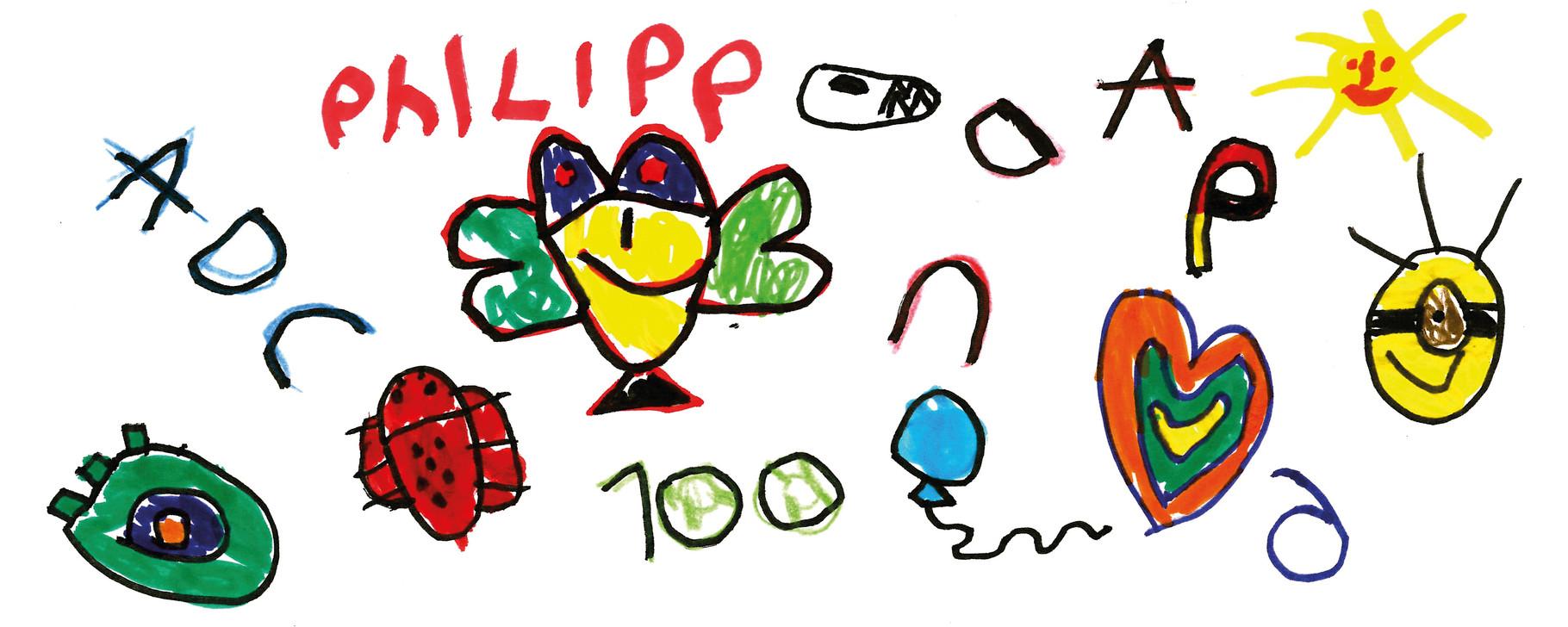 Tassen-Design der Vorschulkinder aus der Kita Tausendfüßler in Usingen.