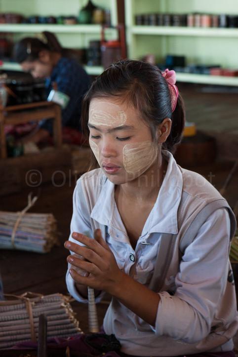 Birmanie - Lac Inle - Fabrique de cigares