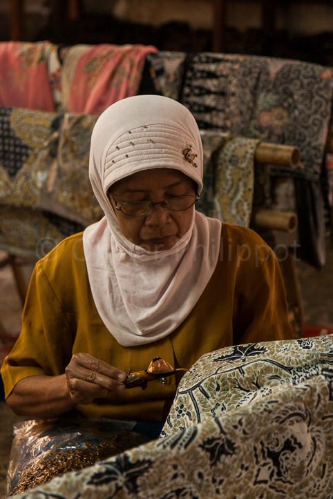 Indonésie - Yogyakarta - Atelier de batiks