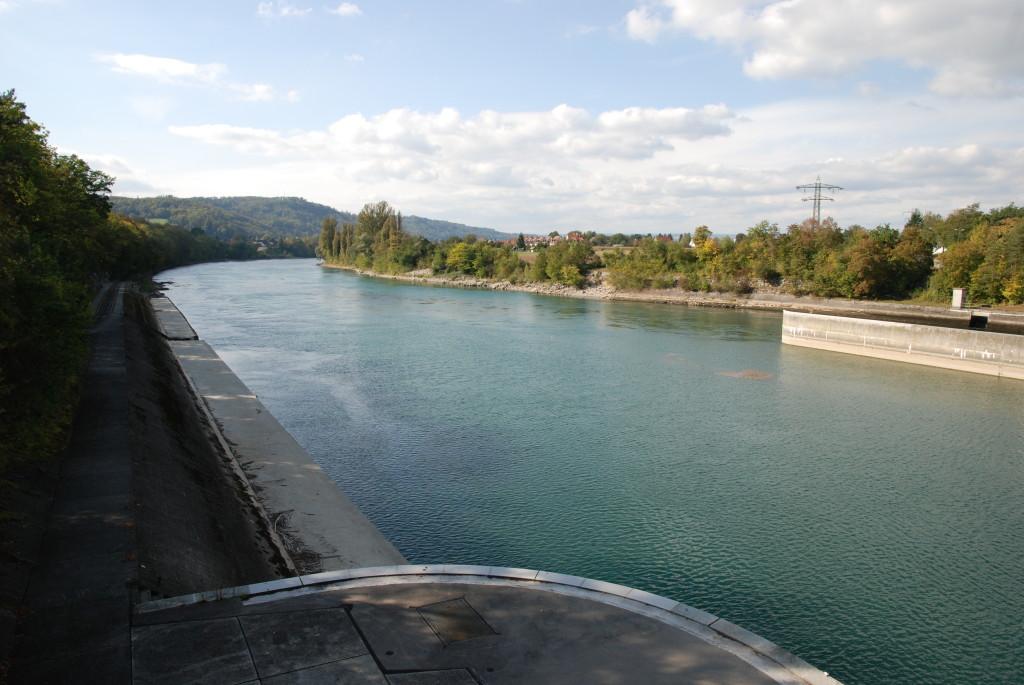 Blick vom Kraftwerk Rekingen