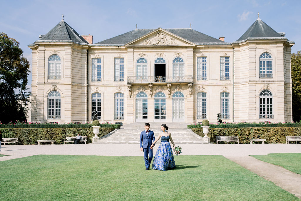 wedding in Rodin Museum