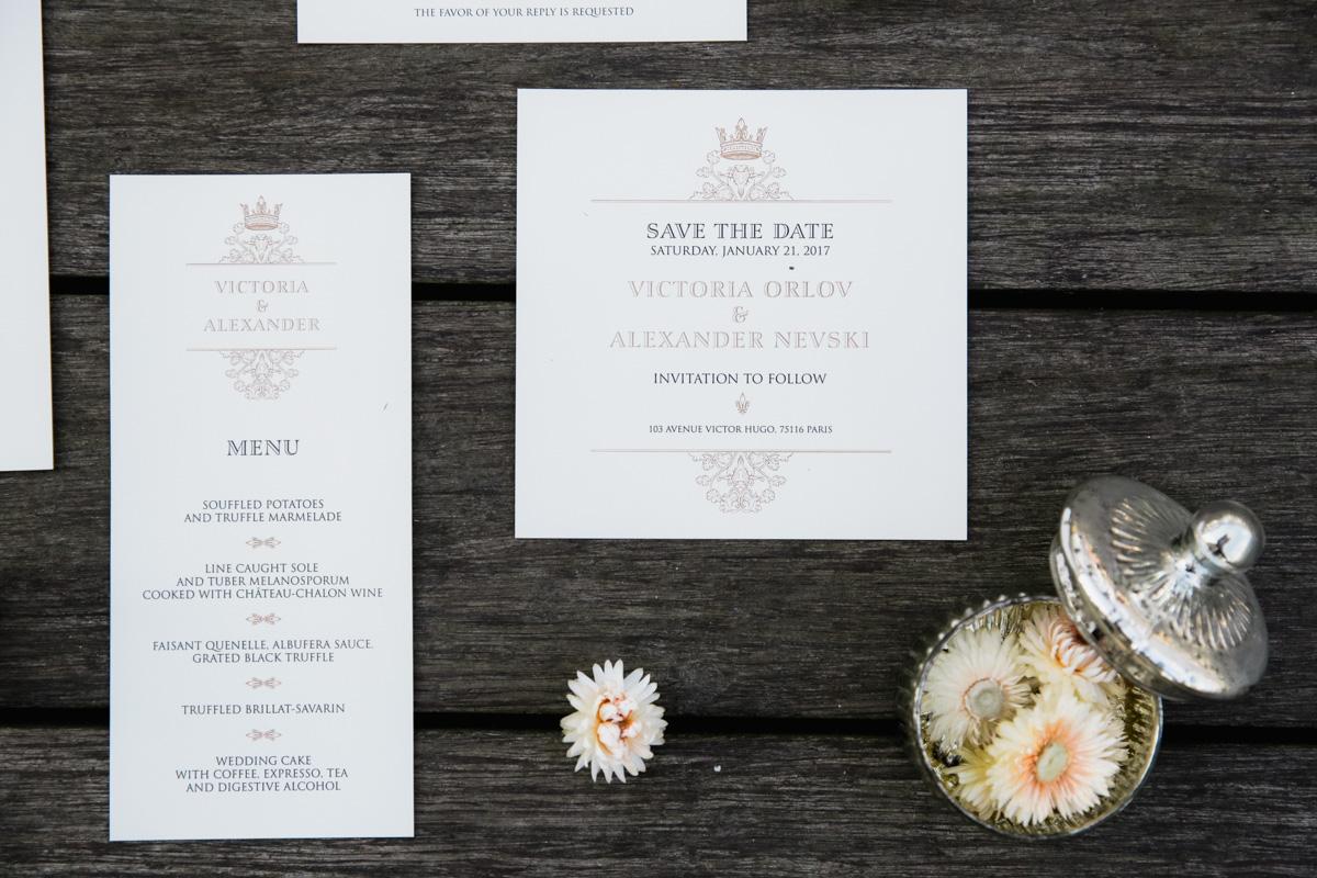 свадебная полиграфия в париже