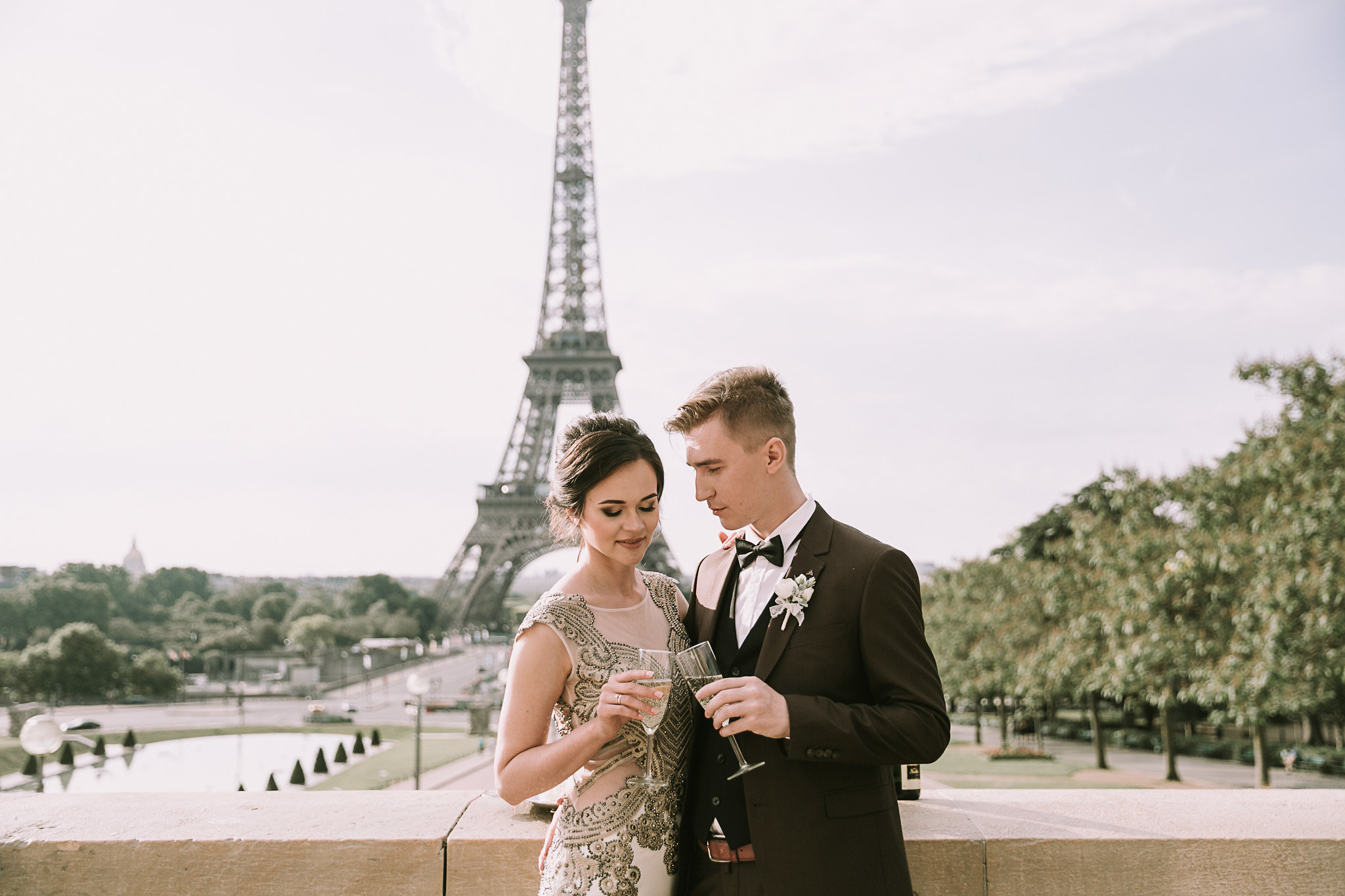 Церемония обмена клятвами в Париже