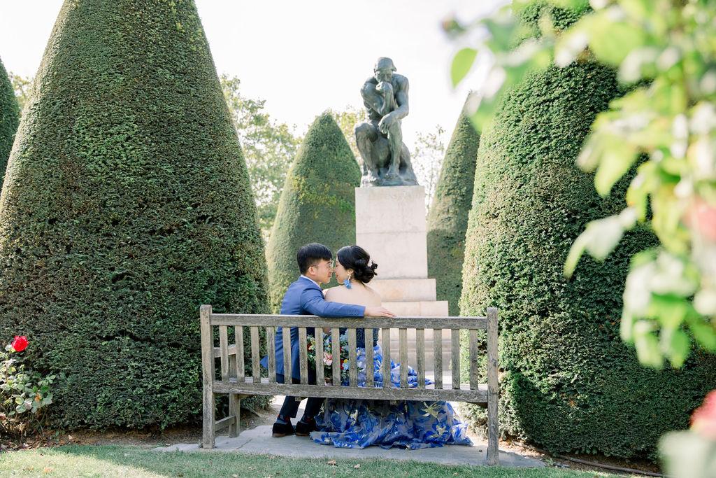 wedding in Rodin Museum