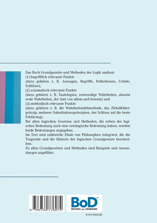 Philosophische Logik: Grundgesetze und Methoden der Logik | ISBN: 978-3734776274
