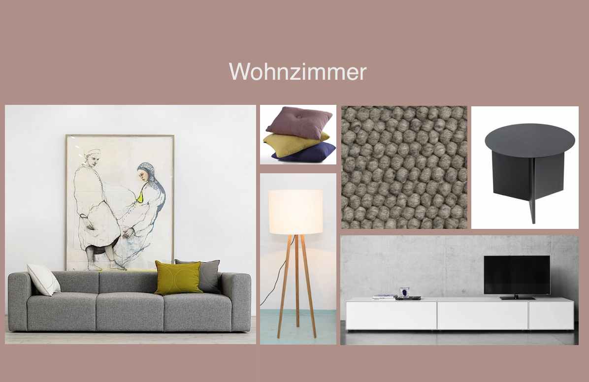 Moodboard Model-Apartment Döltschiweg Zürich
