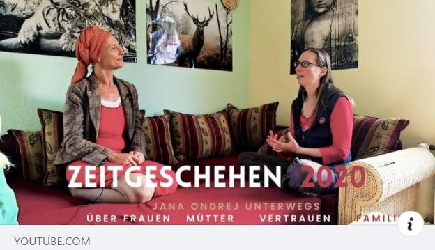 Zeitgeschehen 2020 - Jana Ondrej mit mir im Interview
