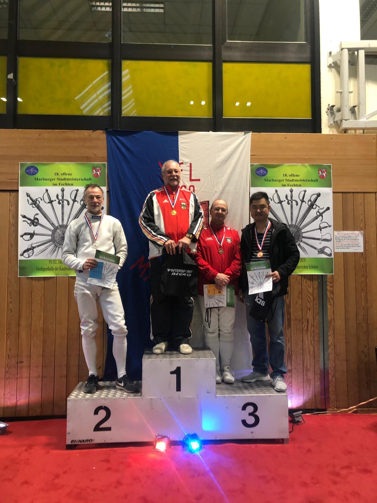Internationalen Marburger Meisterschaften - Vladimir Chuberov  gewinnt mit dem Degen