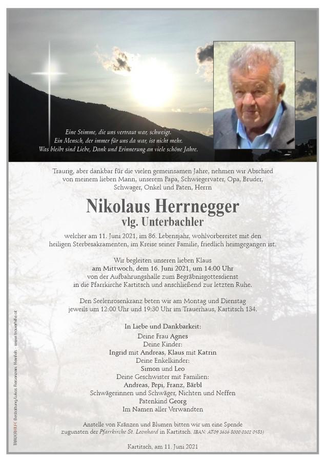 """Begräbnis Herrnegger Klaus """"Bachler"""""""