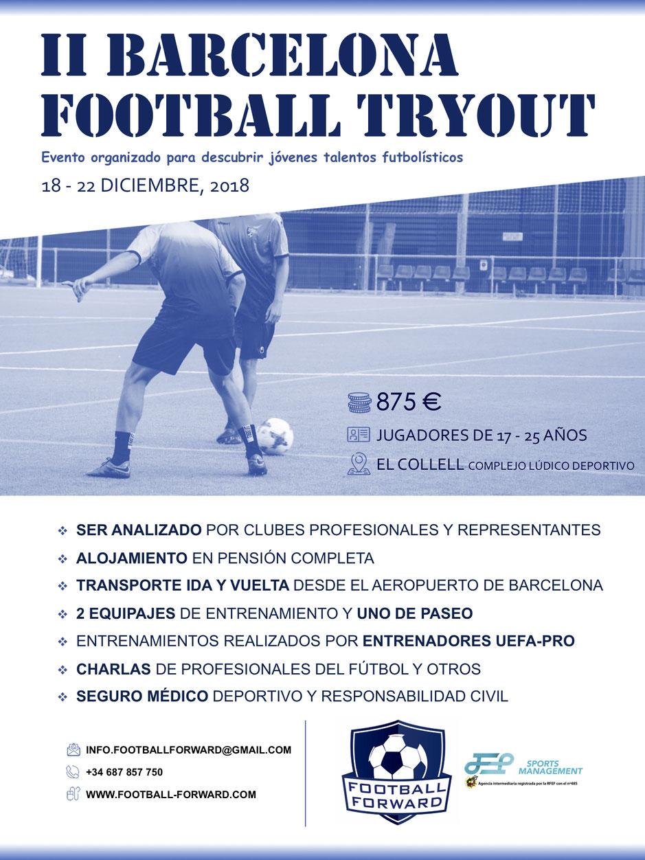 59cccb2979 Últimas plazas para las pruebas de fútbol de JEP Sports y Football Forward