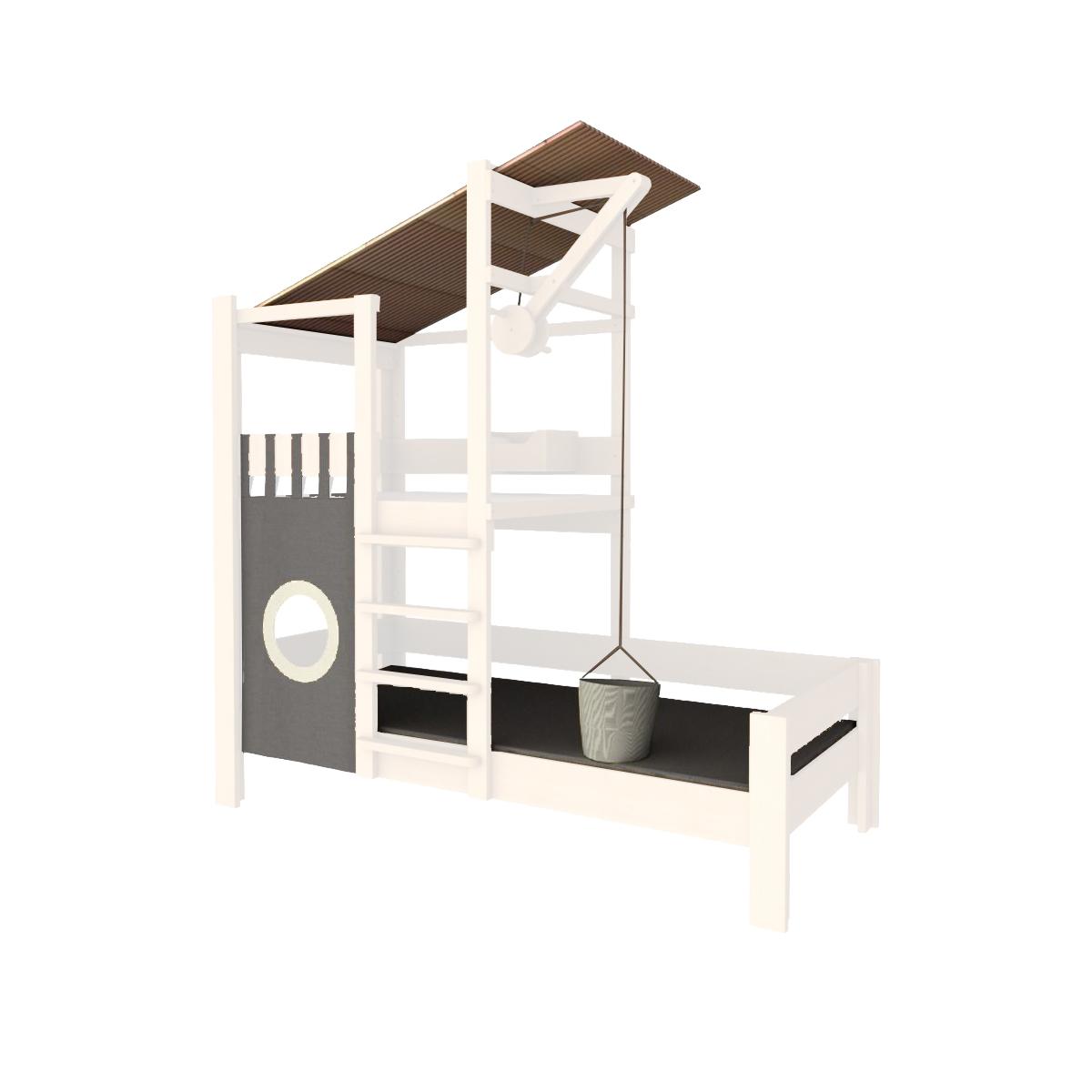 Baumhausbett - Variante weiß
