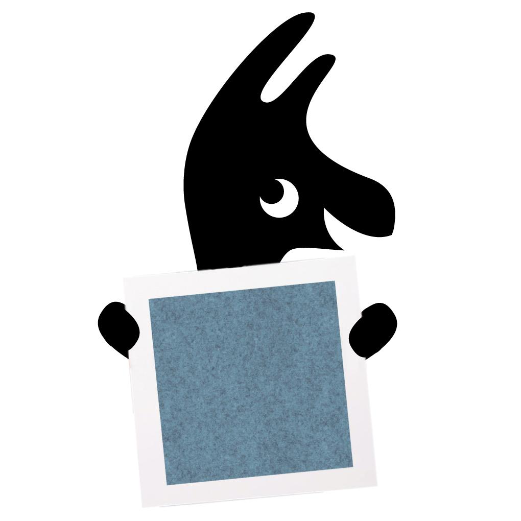 Filz-Wandpaneel hellblau